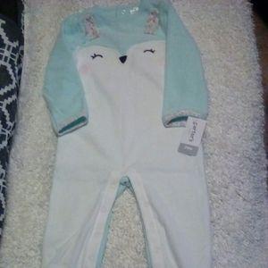 Carter's bunny fleece jumpsuit.